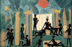 Obraz surrealistické malířky Toyen nazvaný Ráj černochů koupil zájemce na aukci v Praze za 31,68 milionu korun