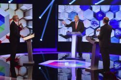 Jeremy Corbyn a Boris Johnson v debatě BBC