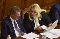 Andrej Babiš a Klára Dostálová