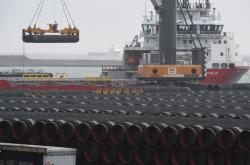Potrubí pro Nord Stream 2 v německém Sassnitzu