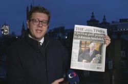 Zpravodaj ČT Vostal komentuje reakce britského tisku na výsledky voleb