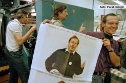 Plakát Václava Havla v prosinci 1989