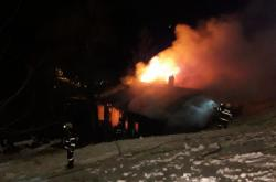Požár chaty Javor