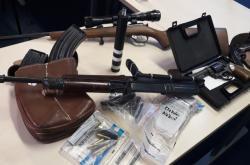 Zbraně, které našli policisté ve Vyškově