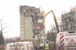 Demolice panelového domu v Prešově