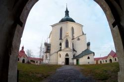 Kostel svatého Jana Nepomuckého na Zelené  hoře ve Žďáru nad Sázavou