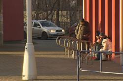 Bezdomovci o obchodního centra v Třinci