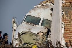 Trosky letadla v Kazachstánu