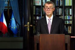 Premiér Andrej Babiš při novoročním projevu