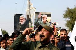 Snímek ze smutečního průvodu v Bagdádu