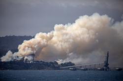 Požár ve nedaleko města eden