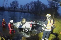 Havárie auta u obce Herstošice