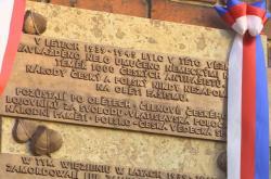 Pamětní deska zavražděným českým odbojářům ve Wroclawi