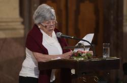 Bývalá vězeňkyně nacistického tábora v Osvětimi Eva Pokorná