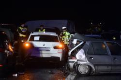 Hromadná havárie na dálnici D10