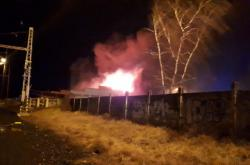 Požár v Úvalech u Prahy