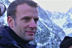 Emmanuel Macron na návštěvě Mont Blancu