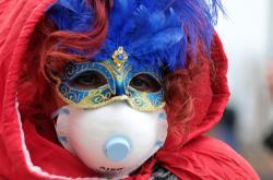 Nákaza koronavirem ochromila karneval v Benátkách