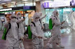 Dezinfekce letiště v Tegu