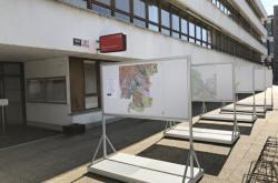 Návrh územního plánu na terase budovy Magistrátu města Brna