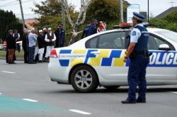 Policie na místě střelby v březnu 2019