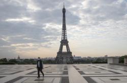 Náměstí Trocadero v Paříži v době pandemie koronaviru