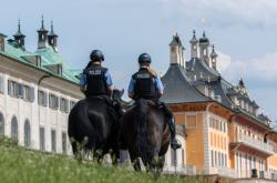 Policie kontroluje dodržování protipandemických opatření v Drážďanech