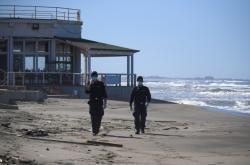 Zavřená pláž v Itálii