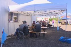 Centrum pro bezdomovce ve Vlhké ulici v Brně