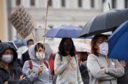 Úterní demonstrace proti vládě v Českých Budějovicích