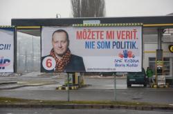 Boris Kollár na předvolebním billboardu