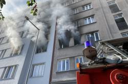 Požár bytu v Holešovicích