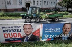 Předvolební plakáty v Lešně