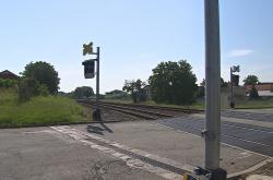 Železniční přejezd ve Vracově