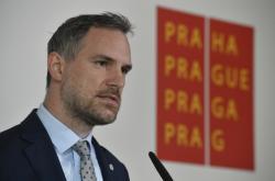 Primátor Zdeněk Hřib na tiskové konferenci