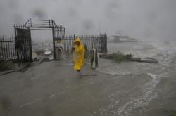 Následky bouře Hanna v Corpus Christi v Texasu