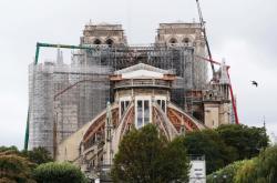Příprava na rekonstrukci Notre-Dame