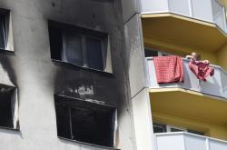 Panelový dům v Bohumíně po požáru