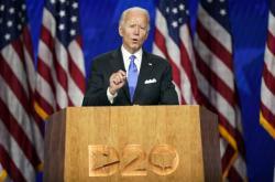 Joe Biden při nominačním projevu