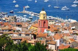 Francouzské město Saint-Tropez