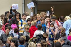 Zahájení školního roku v Milovicích na Nymbursku