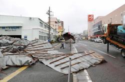 Škody v Japonsku po hurikánu Haishen