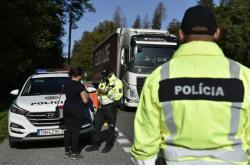 Policejní kontrola na hranicích se Slovenskem