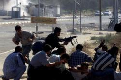 Přestřelka Palestinců s Izraelci v roce 2002