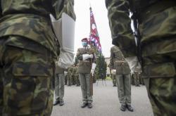 Slavnostní nástup 43. výsadkového pluku v Chrudimi