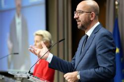 Předsedkyně EK Ursula von der Leyenová a šéf Evropské rady Charles Michel