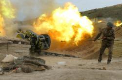 Arménský voják v boji o Karabach