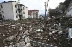 Zničené budovy po ostřelování