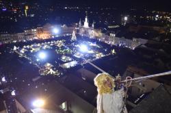Tradiční přílet anděla na českobudějovické náměstí