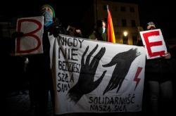 Ženy protestující v Krakově